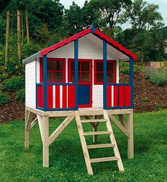 Image Search Results for great play houses Kids Playhouse Plans, Outside Playhouse, Childrens Playhouse, Build A Playhouse, Playhouse Outdoor, Outdoor Play, Kids Play Yard, Outdoor Toys For Toddlers, Swing Set Plans