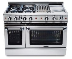 "GSCR488N Capital 48"" Precision Pro Style Gas Convection Range 8 Burners- Natural Gas - Stainless Steel"