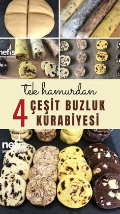 Tek Hamurdan 4 Çeşit Buzluk Kurabiyesi ( Videolu) - Nefis Yemek Tarifleri 4 Types of Ice Cream Cookies from One Dough (With Video) - Yummy Recipes Galletas Cookies, Cake Cookies, Cupcake Cakes, Lemon Cupcakes, Strawberry Cupcakes, Keto Desserts, Dessert Recipes, Brownie Low Carb, Types Of Ice Cream