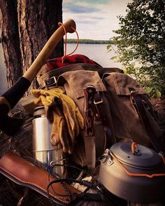 #frostriver #gear #kit #gransfursbruks #axe #knife #knifeporn #leather #gsikettle #stainlesssteel #woods #lake #nature #love #wildernessculture #camping #backpacking #canoeing #hiking #bushcraft #adventure #discover #explore #ontario #lake #instagood #instalike #outdoorsman #woodsman #weekend