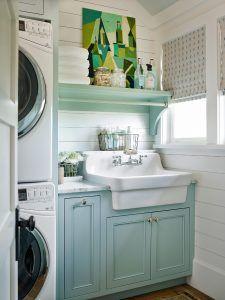 "Laundry room !Benjamin Moore Wythe Blue HC-143. ""Benjamin Moore Wythe Blue HC-143"". Paint color is Benjamin Moore Wythe Blue HC-143."