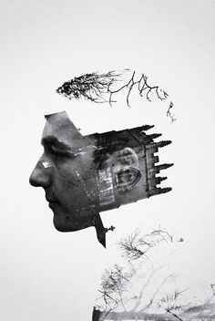 Double Exposure Portraits Alex Mee http://www.behance.net/alexmee