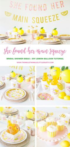 How to host a Casual Summer Bridal Shower or Bachelorette Party OFF our bridal shower invitation card, bridal shower games, bridal shower gift ideas from our store. Yellow Bridal Showers, Backyard Bridal Showers, Summer Bridal Showers, Bridal Shower Party, Bridal Shower Rustic, Bridal Shower Decorations, Bridal Shower Invitations, Themed Bridal Showers, Bridal Shower Brunch Menu