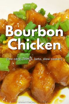 This slow cooker Keto Bourbon Chicken tastes just as good as your remember - and is even easier to make! My version tastes great but is gluten free low carb ketogenic and a THM:S! Burbon Chicken Recipe, Bourbon Chicken, Chicken Recipes, Keto Chicken, Low Carb High Fat, Low Carb Diet, Slow Cooker Recipes, Low Carb Recipes, Healthy Recipes