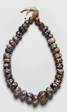 Strand of Egyptian glass beads from the Roman Period | 1st century AD.
