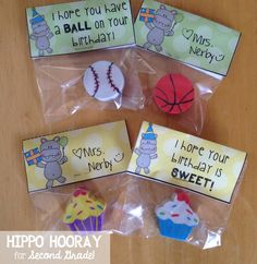 Eraser Pencil Toppers For Student Birthday Gifts Blog Post Includes A Freebie The Labels