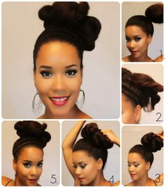 High bun + Twist Protective Style Tutorial by Samantha at Jada Beauty