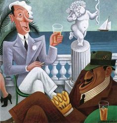 Vanity Fair Impossible interviews - Ex King Alfonso versus James J Walker by Miguel Covarrubias. Diego Rivera, New York Dance, Clemente Orozco, Nickolas Muray, Make Your Own Story, National Art, Art Et Illustration, Oeuvre D'art, Music Artists