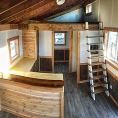 Why buy an Autumn Crow tiny home and not an RV? I'm glad you asked... 1. SMARTER INVESTMENT RV's are depreciating assets. When buying an RV you are at the mercy of the motor and the mechanics of the vehicle. A tiny home on the other hand maintains value the same as a house. 2. QUALITY Our tiny homes are individually designed and handcrafted using quality materials. No flimsy paneling or fake cabinets like you'll find in mass-produced RVs. Tiny homes look and feel like a HOME... because they…