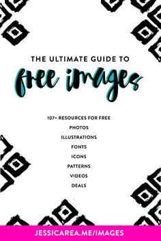 A comprehensive list of free images (and almost free) photos, fonts, icons, backgrounds, textures, and even videos to use on your website or blog. | Branding | Fonts | Icons | Logo | Pattern | Design | Graphic Design | Web Design | Marketing