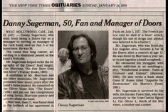 Danny Sugerman died today age 50 in 2005. The Doors Examiner remembers Danny.