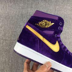 best website 2005e 7d2de Men s Nike Air Jordan 1 HI PREM HC GG Heiress Pack Velvet Purple Men  Basketball Shoes