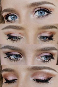 Maquillage des yeux scintillants pour 2014