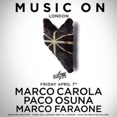 #housemusic Marco Carola brings another 3 huge Music On events to London: The global ambassador of techno, Marco Carola, is bringing…