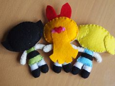 Felt Powerpuff Girl Dolls by LaraTheme on Etsy