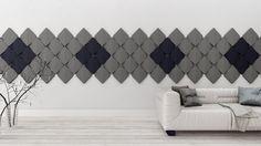 Miękkie panele ścienne 3D Fluffo, Fabryka Miękkich Ścian. Kolekcja Fluffo CARO. www.fluffo.pl