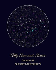 109 Best My Sky Custom Star Maps™ images