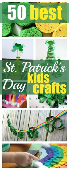 50 Best St. Patrick's Day Crafts for Kids | Round up of the best kids crafts for St. Patrick's Day, lots of crafting ideas for the holiday