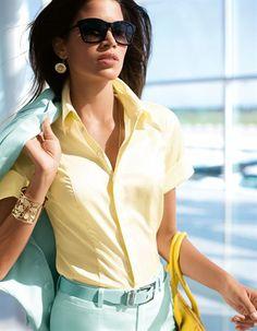 Bluse in Swiss-Cotton-Qualität mit femininer Passform und herausragendem Tragekomfort