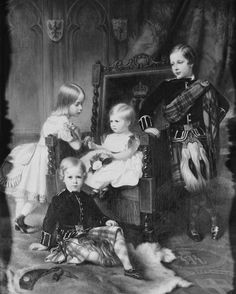 The Four Eldest Children of Crown Prince and Princess Frederick William of Prussia. Princess Victoria's children, Queen Victoria's grandchildren