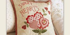 It's Also a Wonderful Gift! Fusible applique and a bit of embroidery create a beautiful pillow you'll enjoy for years. The sweet design has a decidedly vintage feel to it and will be charming just about anywhere around your home. Display the pillow for Valentine's Day or all year long. It also makes a wonderful …