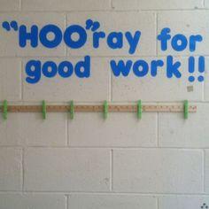 owl+themed+classroom+bulletin+board   Student work display to go ...