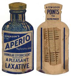 Aperio Laxative Advertising Card w/Pins by Focht, via Flickr.