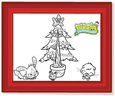 Moshi Monsters | The Daily Growl - Colour It - Twistmas Tree Scene!
