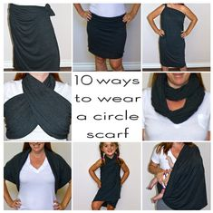 10 Ways To Wear A Circle Scarf
