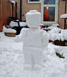 snow lego man