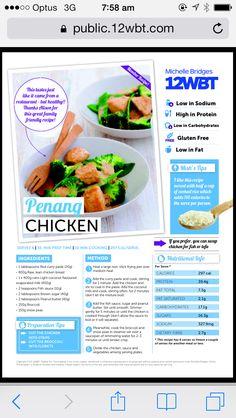 Penang chicken Michelle bridges