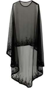Bhaavya Bhatnagar presents Black floral beads embroidered cape available only at Pernia's Pop Up Shop. Bridal capelet Bridal cover up Lace cover up by HanakinLondon Not departs but quite close to the idea. Cape/ kind of shrug Discover thousands of images Abaya Mode, Mode Hijab, Cape Dress, New Dress, Dress Prom, Chiffon Dress, Chiffon Blouses, Abaya Fashion, Fashion Dresses