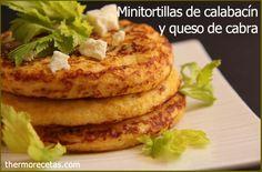 Minitortillas de calabacín y queso de cabra - http://www.thermorecetas.com/2014/01/31/minitortillas-de-calabacin-y-queso-de-cabra/