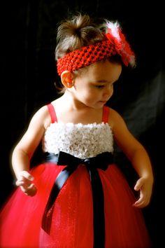 Christmas Tutu / Santa Baby Tutu Dress by ManaiaBabyDesigns, $29.00