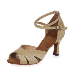 2597f5e475551  35.18 €  Femmes Similicuir Talons Sandales Latin avec Lanière de cheville  Chaussures de danse