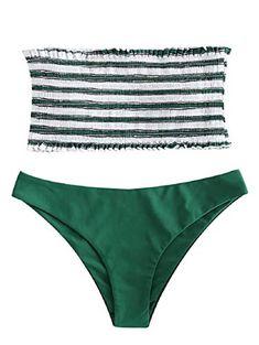 UMIPUBO Maillot de Bain Femme Polka Dot Ensembles Deux pi/èces Bikini Push Up Maillot Plage sans Bretelles Bandeau Swimwear