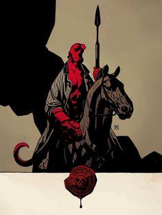 Hellboy: The Wild Hunt - Mike Mignola Comic Book Artists, Comic Artist, Comic Books Art, Illustrations, Illustration Art, Dark Horse Comics, Mike Mignola Art, Bd Comics, Hellboy Comics