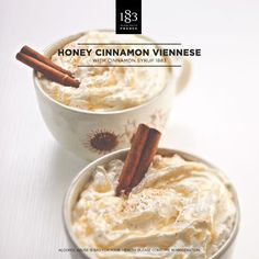 Honey Cinnamon Viennese, with Cinnamon Syrup 1883. #Coffee #Barista