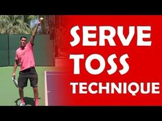 Serve Toss Mechanics | SERVE TOSS - YouTube Tennis Lessons, Tennis Tips, Tennis Serve, Tennis Games, Free Kick, Skill Training, Tossed, Improve Yourself, Baseball Cards