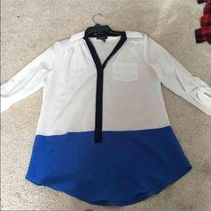 Color block IZByer top Small stain on chest Iz Byer Tops Blouses