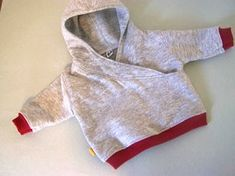 Free pattern: Lapped front hoodie for an infant