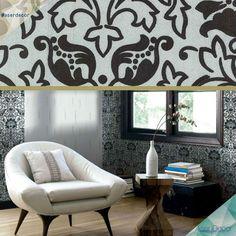 Papel de Parede com Veludo! O Gran Deluxe veste com muita elegância as paredes! WWW.ASERDECOR.COM.BR/PAPEL-DE-PAREDE #aserdecor #papeldeparede #luxo #veludo #top