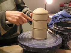 Fine Mess Pottery: Stacking Jars, Part 2
