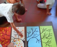 Το δέντρο των 4 εποχών Preschool Auction Projects, K Project, Family Crafts, Tree Forest, Auction Items, Preschool Art, Art Plastique, Easy Drawings, Elementary Schools