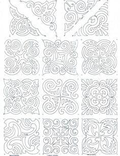maori moko block set composite works for a soutache pattern