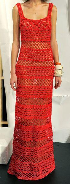 Santa Clara Artesanato: Longos vermelhos de crochê