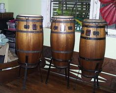 Mariano series Gon Bops congas in Mahogany, stands not original.