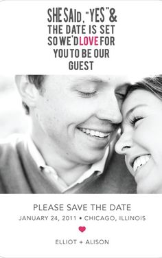 Adorable Save the Date Ideas.