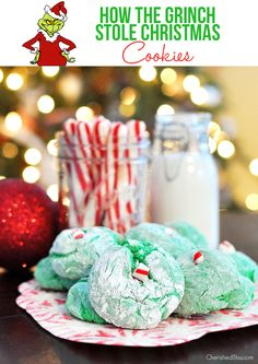 Create special memories this holiday season with these Grinch inspired Cool Whip Cookies. A great recipe for your kids to help!