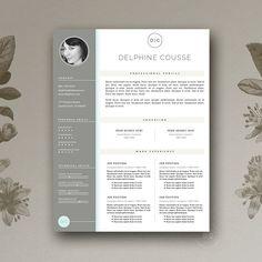 Modern Resume Template CV Design by Botanica Paperie on Modern Resume Template, Cv Template, Resume Templates, Design Templates, Cv Design, Resume Design, Cover Letter Template, Letter Templates, Business Brochure